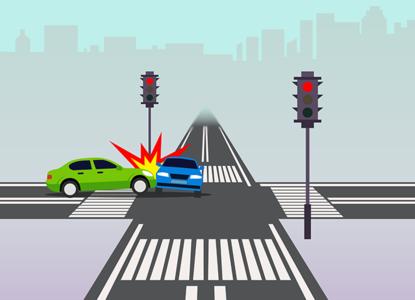 Суд определил виновника аварии на перекрестке