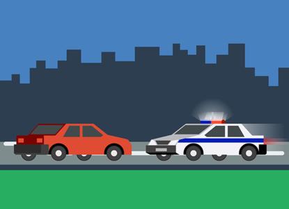 Не уступил дорогу полицейским: когда оштрафуют