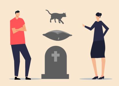 Кота, подушку и место на кладбище: что делят пары после разрыва