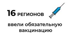 Где ввели обязательную вакцинацию: карта / Иллюстрация: Право.Ru/Оксана Острогорская