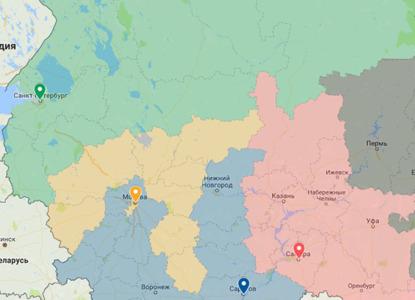 Новые апелляционные и кассационные суды на интерактивной карте