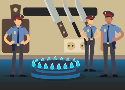 Откройте, это газовая полиция!