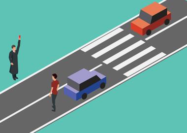 Нельзя перебегать дорогу, если рядом переход